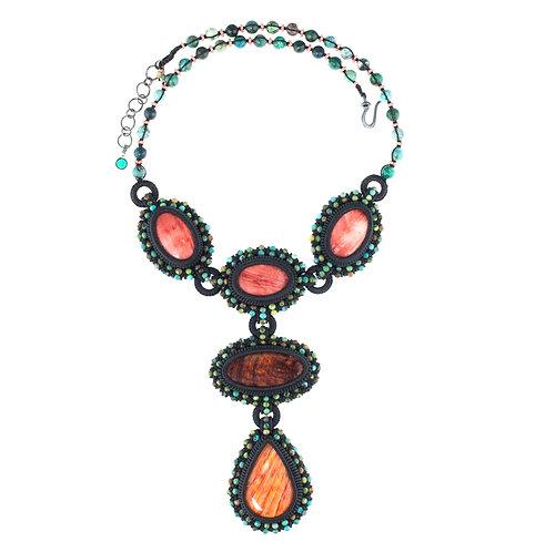 Spiny oyster statement necklace