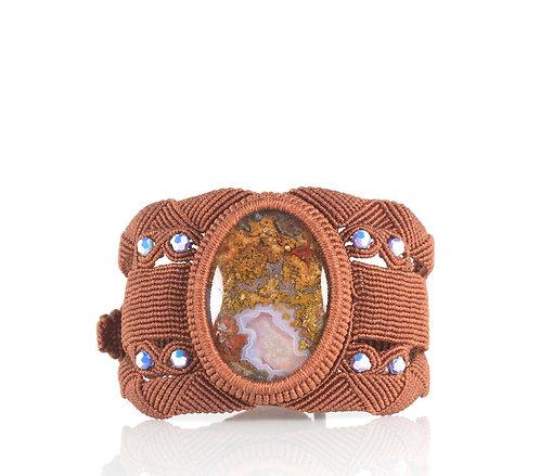 Moroccan seam agate cuff bracelet