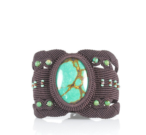 Blue green turquoise cuff bracelet