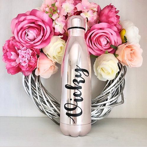 Personalised Pink Pearl Water Bottle - 500ml