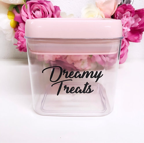 Personalised 1.1L Pink Food Container