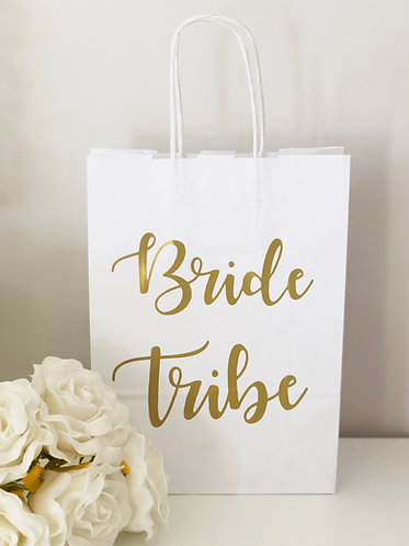Bride Tribe White Gift Bags