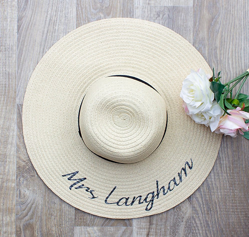 Mrs or Mr Personalised Sun Hat