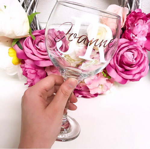 Personalised Double Initial Gin Glass