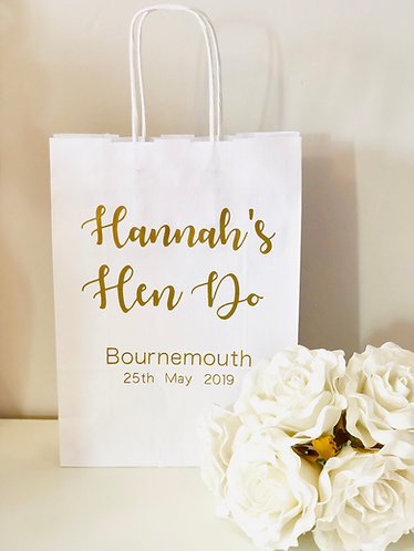 Personalised Hen Do Gift Bags
