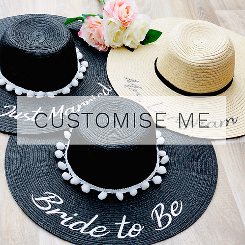 Customisable Sun Hat - Two Colours Available