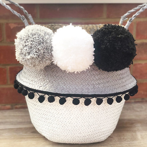 Large Customised Pom Pom Basket