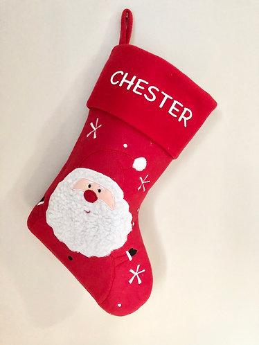 Red Personalised Santa Stocking
