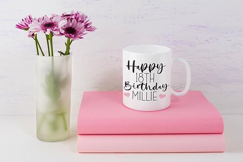 Personalised Happy Birthday Mug