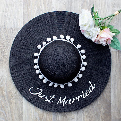 Just Married Sun Hat - Two Colours Available