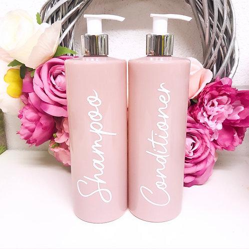 Pink PET Plastic Pump Soap Dispenser // Bathroom Accessories
