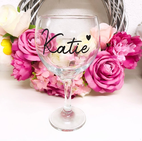 Personalised Gin Glass // Balloon Style