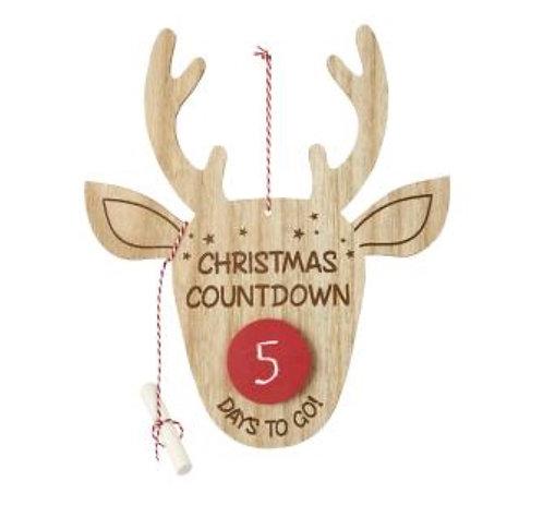 Reindeer Christmas Countdown Sign