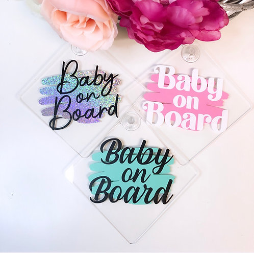 Personalised Acrylic Baby on Board Sign