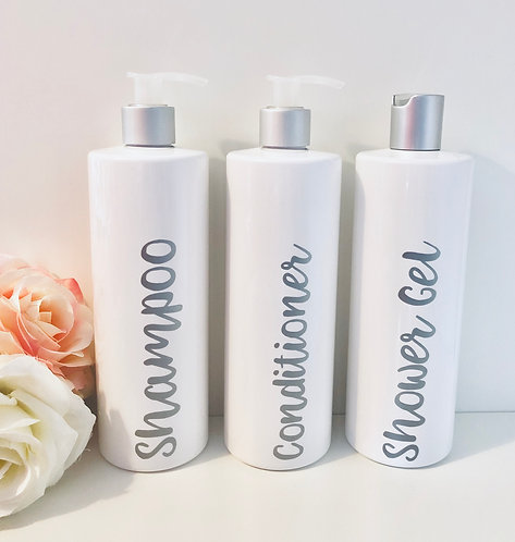 Personalised Bath Set with Pump and Disc Dispensers