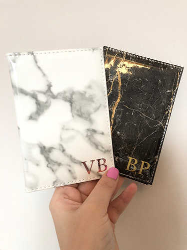 Personalised Initial Marble Passport Holder
