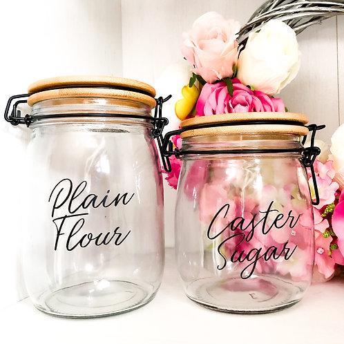 Personalised Wooden Lid Glass Jar