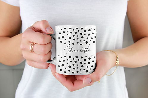 Personalised Dotty Mug
