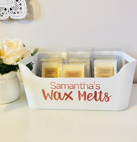Small Named Personalised White Box Organiser