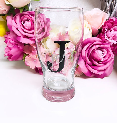 Personalised Initial Named Pint Glass
