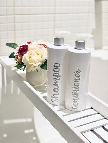 Personalised Reusable White Dispenser Pump Bottle - 500ml