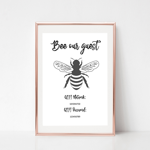 Bee our Guest WiFi Print