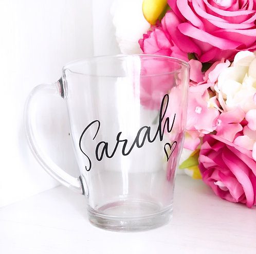 Personalised Named Glass Mug - 350ml