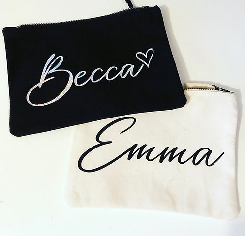 Personalised Canvas Pencil Cases