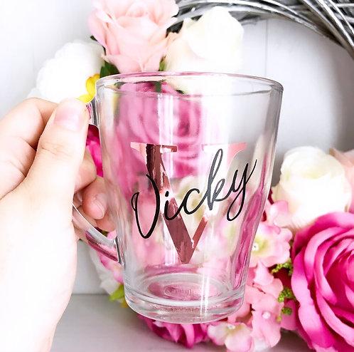 Personalised Glass Double Layered Mug