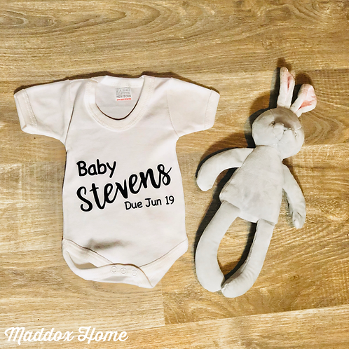 Customised Pregnancy Announcement Baby Grow