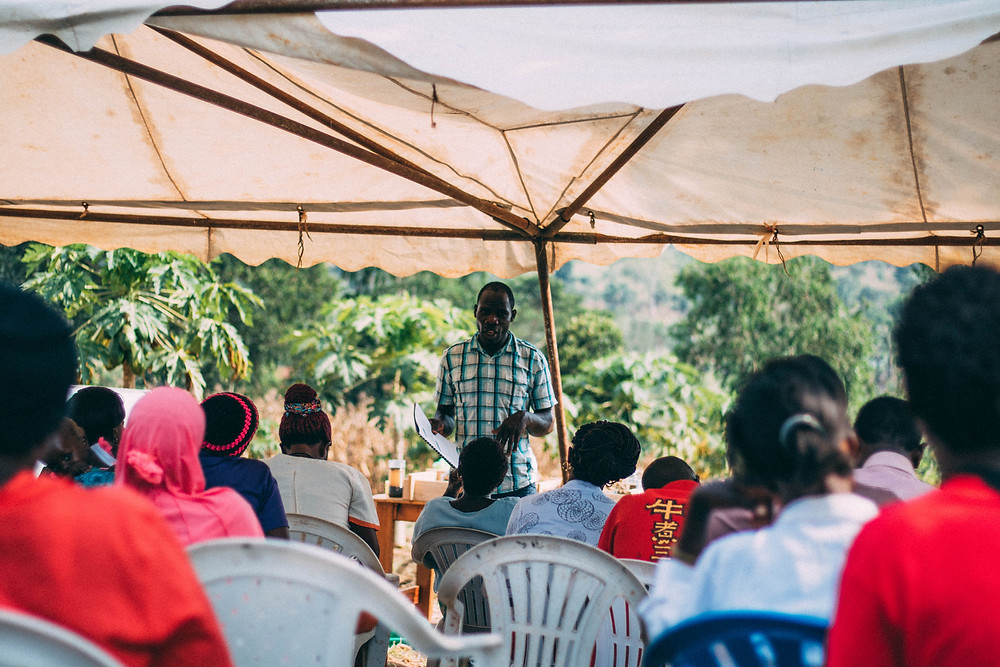 Jeremiah, a member of the Show Mercy agriculture team, teaching about doing things to high standards.