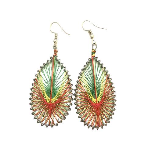 Multi Color Thread Earrings