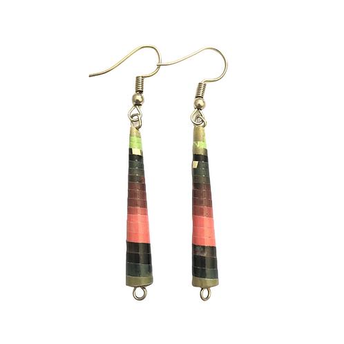 Multicolored Paper Earrings