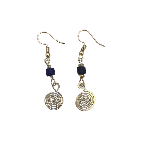 Simple Silver Colored Earrings