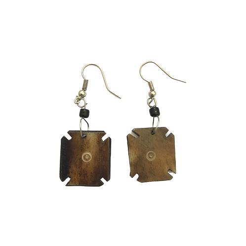 Unique Brown Dangle Earrings