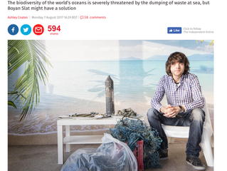 The Ocean Cleanup mainstream coverage at last..
