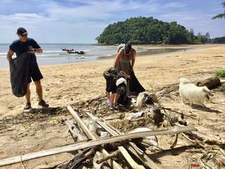 Layan Beach Clean with Trash Hero