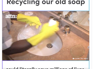 Recycling soap...
