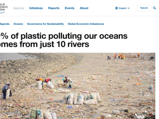 WEF: 90% of plastics polluting the world's oceans come from just 10 rivers