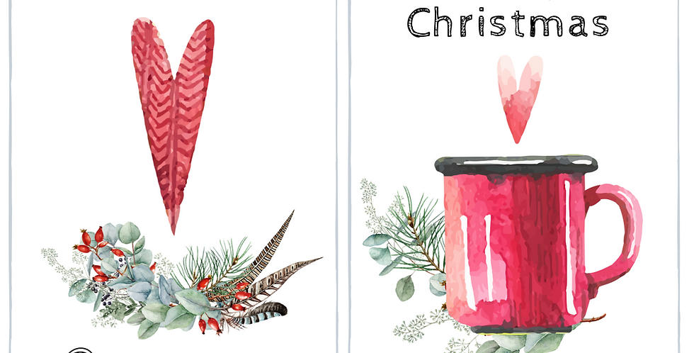Biglietto Natale - Cioccolata