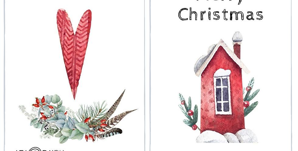 Biglietto Natale - Home sweet home