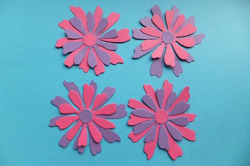 Two tone decorative flowers (4)