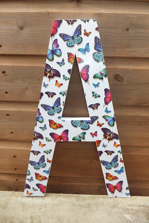 Large butterfly design letter