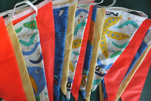 Double sided fabric bunting made to order