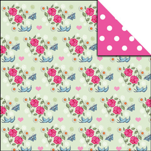 Double sided eco-friendly paper gift wrap (2 sheets plus tags)
