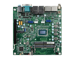 DFI GH171-V1807B AMD® Ryzen™ V1000/R1000 Series Mini-ITX • 2 DDR4 SODIMM up to 32GB • Four independent displays: DP++ + DP++ + DP++ + DP++ • DP++ resolution up to 4096x2160 @ 60Hz • Expansion: 1 PCIe x16, 1 M.2 M Key • Rich I/O: 2 GbE, 6 COM, 3 USB 3.0, 6 USB 2.0