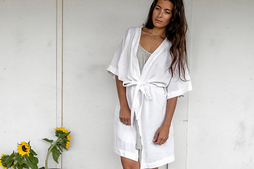 LW Womens Robe, White