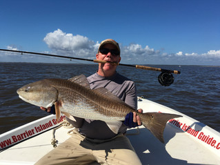 Fly Fishing for Bull Reds - Georgetown / Pawleys Island South Carolina
