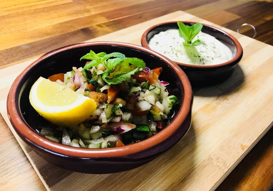 Shirazi Salad & Cucumber Yogurt