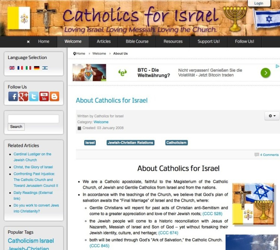 Andre - Catholics for Israel About